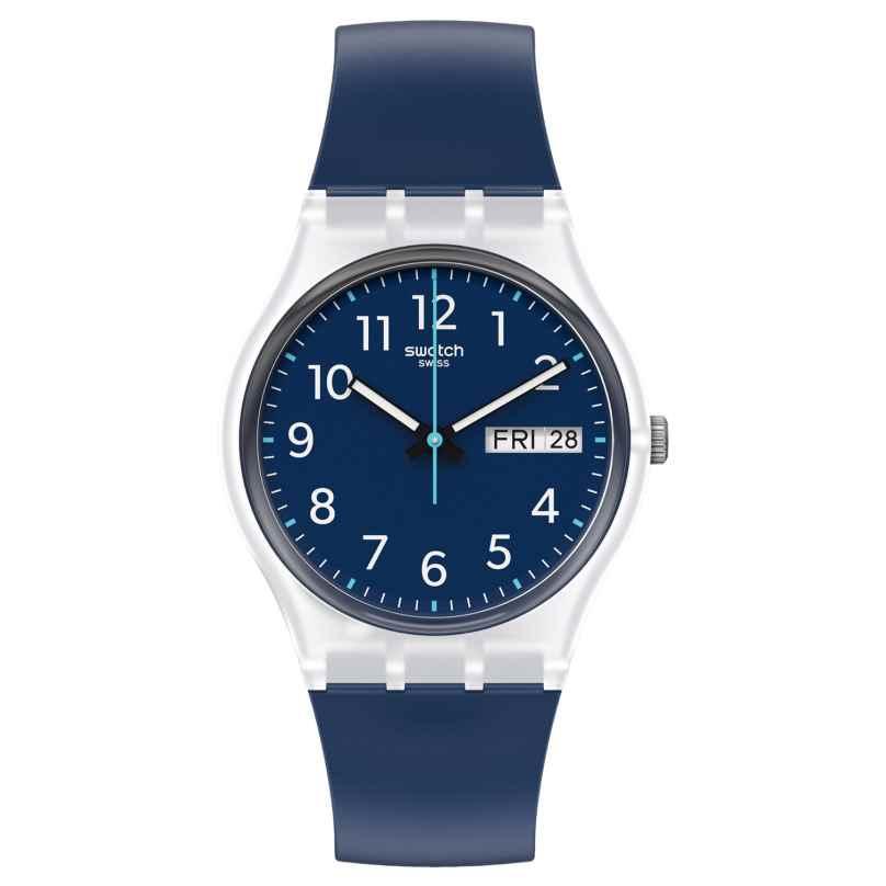 Swatch GE725 Unisex-Uhr Rinse Repeat Blau 7610522837072