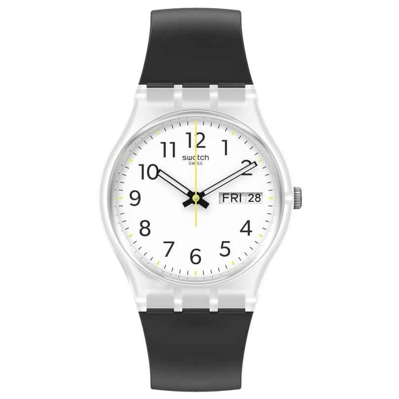 Swatch GE726 Unisex Wristwatch Rinse Repeat Black 7610522837089