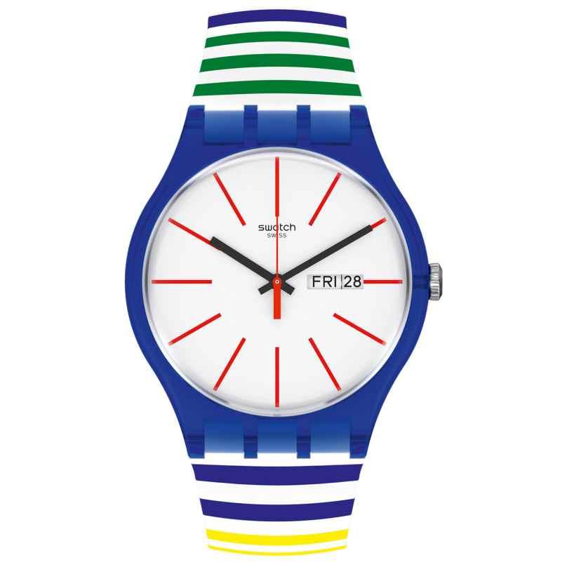 Swatch SUON715 Unisex Armbanduhr Home Stripe Home 7610522837119