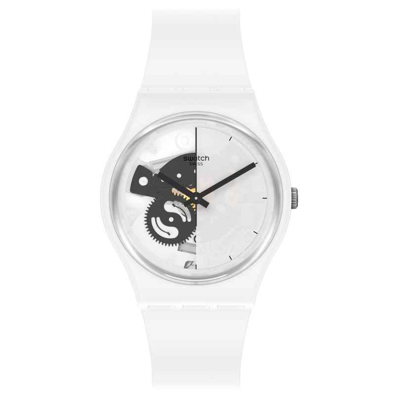 Swatch SO31W101 Damenarmbanduhr Live Time White 7610522842151