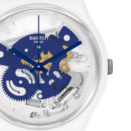 Swatch SO31W103 Armbanduhr Time To Blue Small