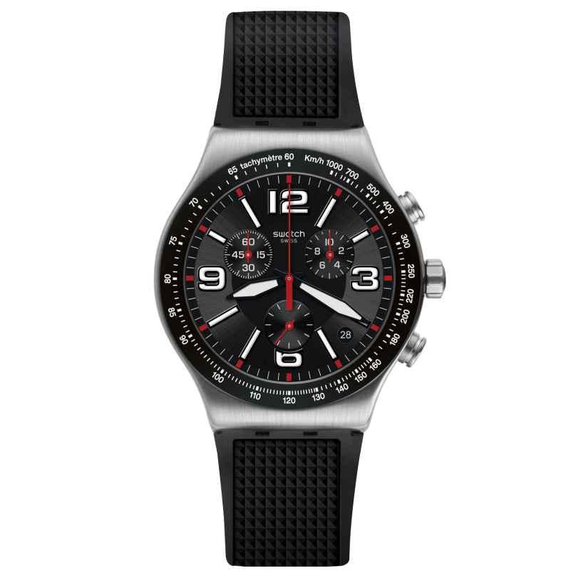 Swatch YVS461 Irony Herren-Chronograph Very Dark Grid 7610522819146