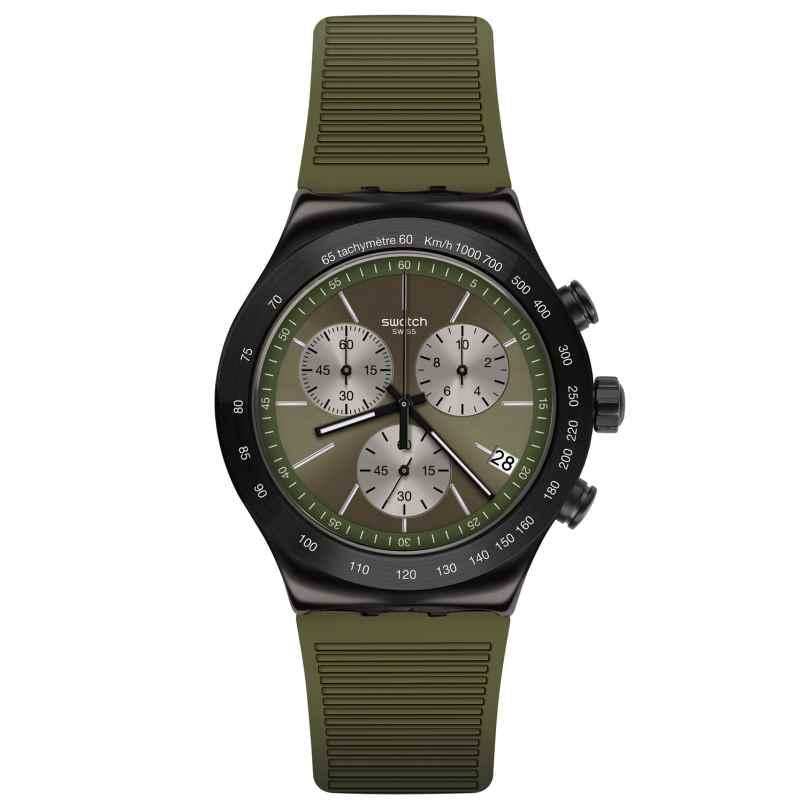 Swatch YVB411 Irony Men's Watch Chronograph Jungle Snake 7610522830523