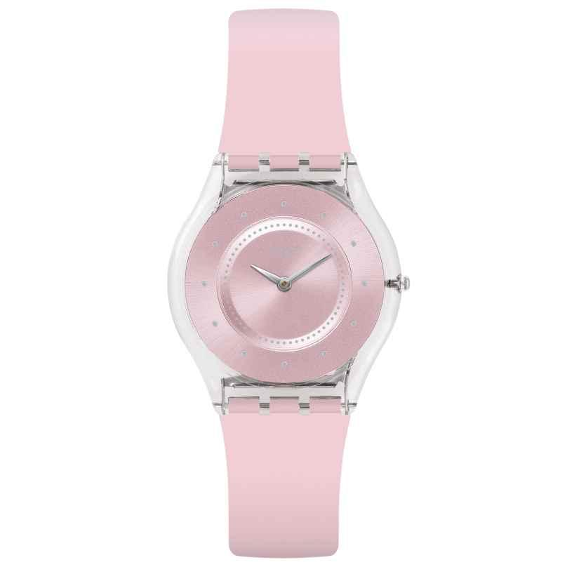 Swatch SFE111 Skin Damen-Armbanduhr Pink Pastel 7610522780620
