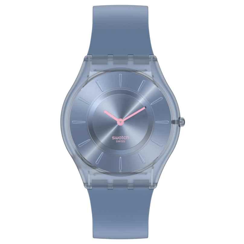 Swatch SS08N100 Damenuhr Skin Denim Blue 7610522838741