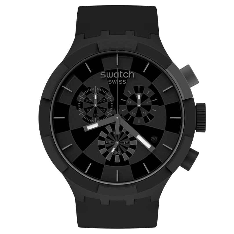 Swatch SB02B400 Big Bold Chrono Armbanduhr Checkpoint Black 7610522832183