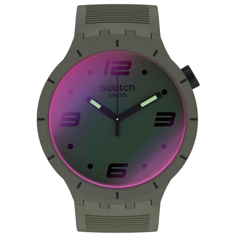 Swatch SO27M105 Herren-Armbanduhr Big Bold Futuristic Green 7610522834033