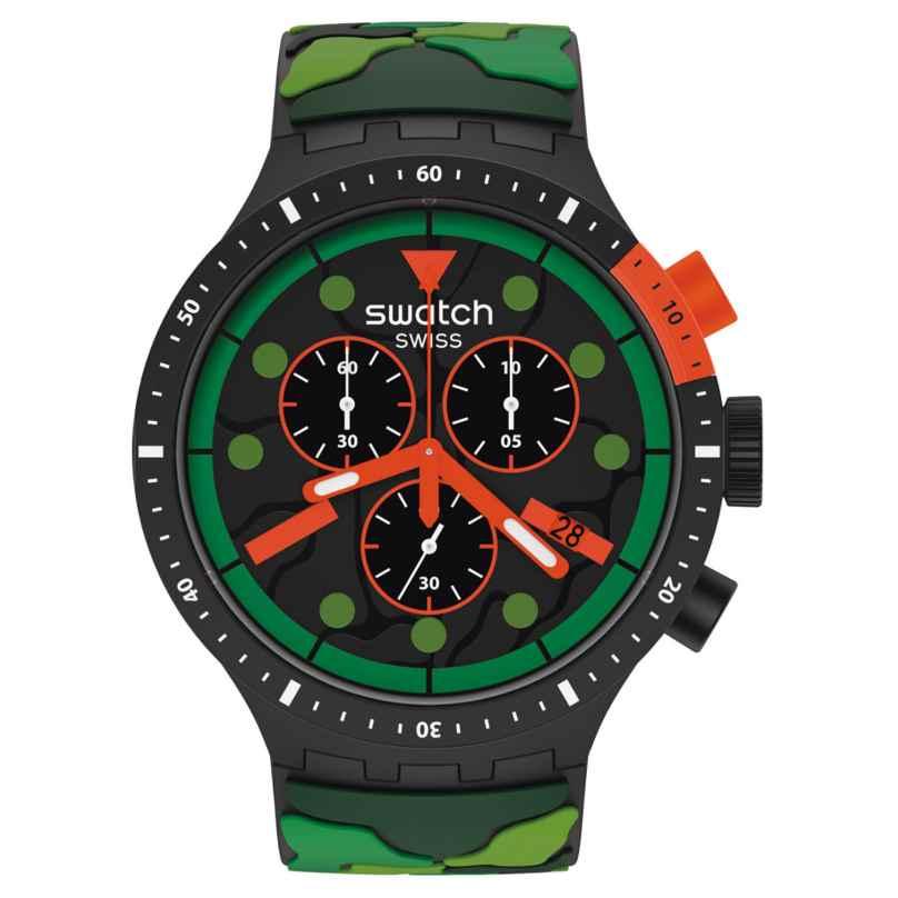Swatch SB02B409 Big Bold Herrenuhr Chrono Escapejungle 7610522837706