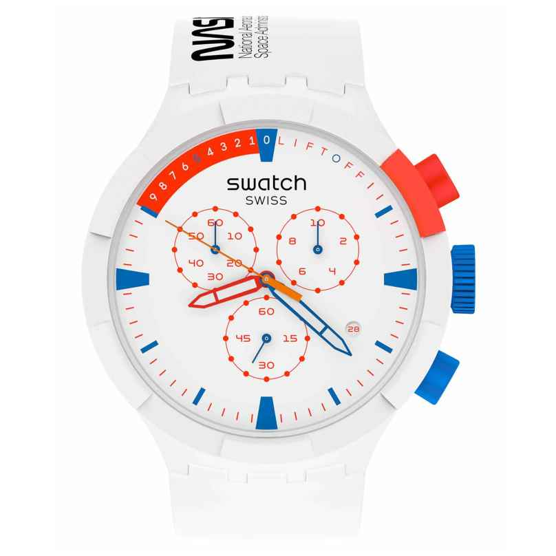 Swatch SB04Z400 Big Bold Chrono Ceramic Uhr Extravehicular 7610522839182