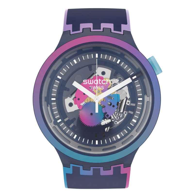 Swatch SO27N112 Armbanduhr Big Bold #rainbowinthenight 7610522839304