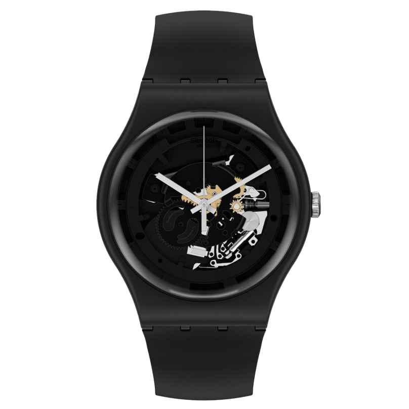 Swatch SO32B108 Herren-Armbanduhr Spot Time Black 7610522842137