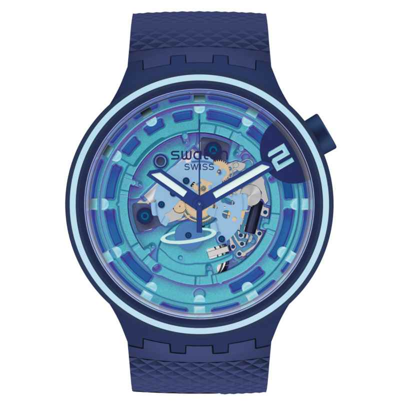 Swatch SB01N101 Big Bold Wristwatch with 2 Straps Second Home 7610522843172