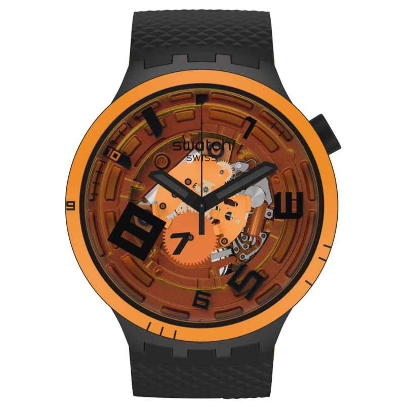 Swatch SB01B127 Big Bold Armbanduhr mit 2 Armbändern Oops! 7610522842762