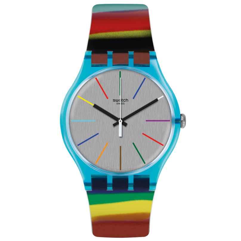 Swatch SUOS106 Colorbrush Damen-Armbanduhr 7610522692886