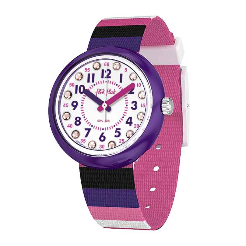 Flik Flak FPNP042 Girls' Wristwatch Stripe Up Your Life 7610522801424