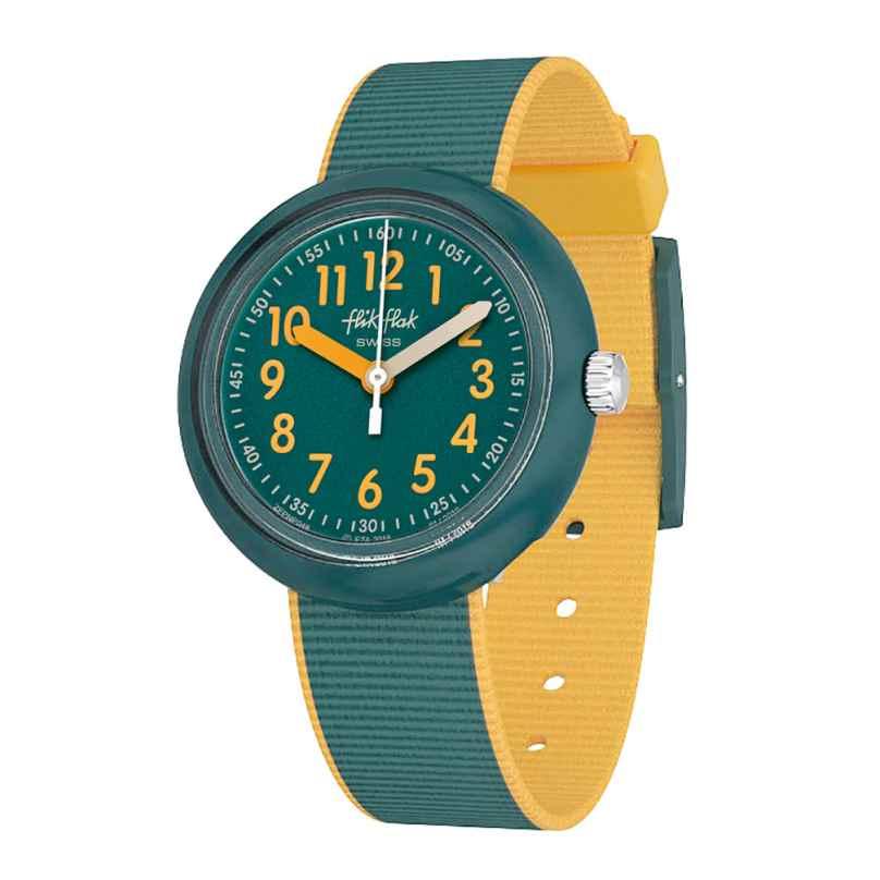 Flik Flak FPNP048 Kinder-Armbanduhr Color Blast Green 7610522799516