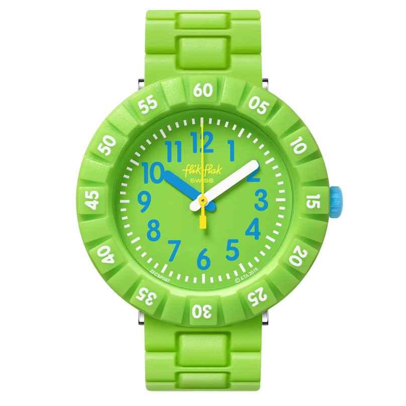 Flik Flak FCSP097 Kinderuhr Solo Green 7610522819832