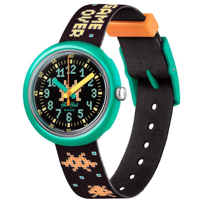 Flik Flak FPNP069 Kinder-Armbanduhr Time Invader 7610522829060