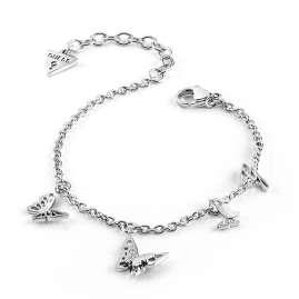 Guess JUBB70113JW Damen-Armband Butterflies Edelstahl