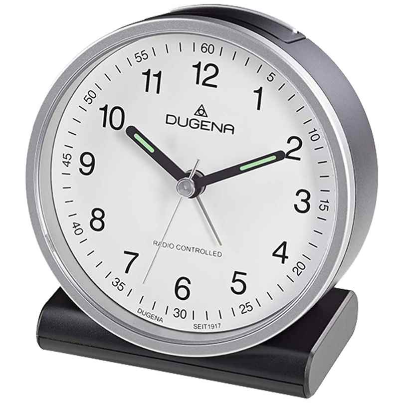 Dugena 4460943 Funkwecker Silber / Weiß 4060753000661