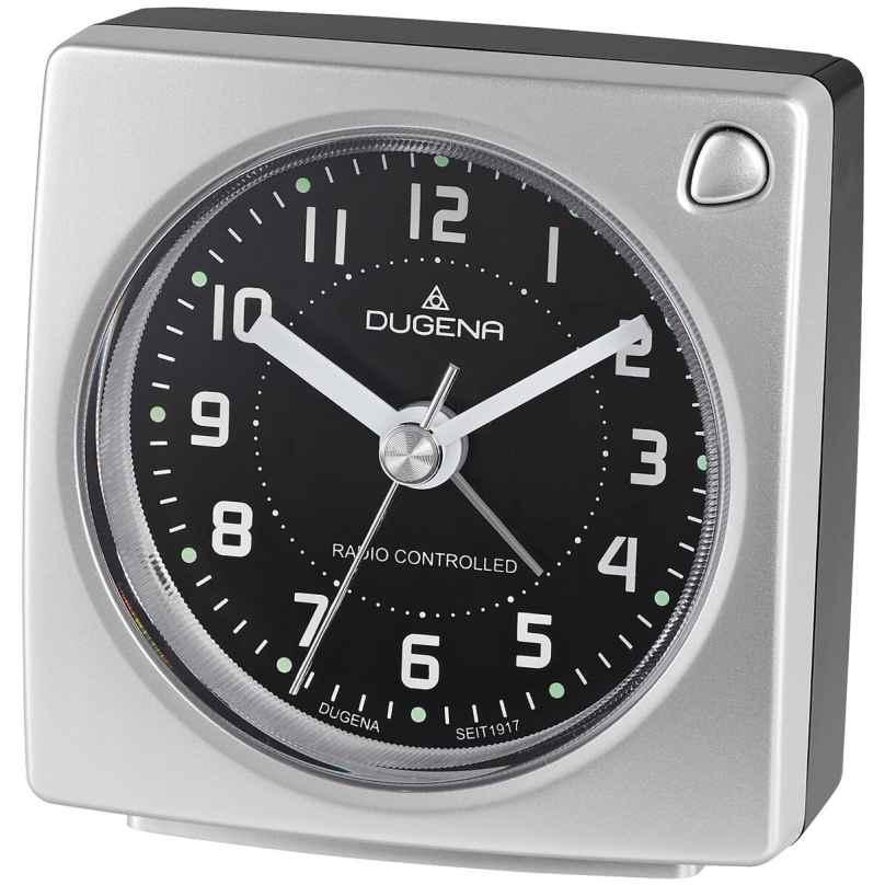 Dugena 4460940 Funkwecker Silber Metallic / Schwarz 4060753000630