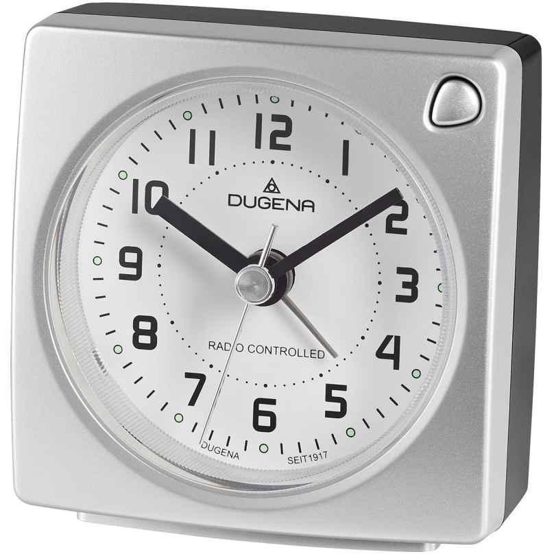 Dugena 4460941 Funkwecker Silber Metallic 4060753000647