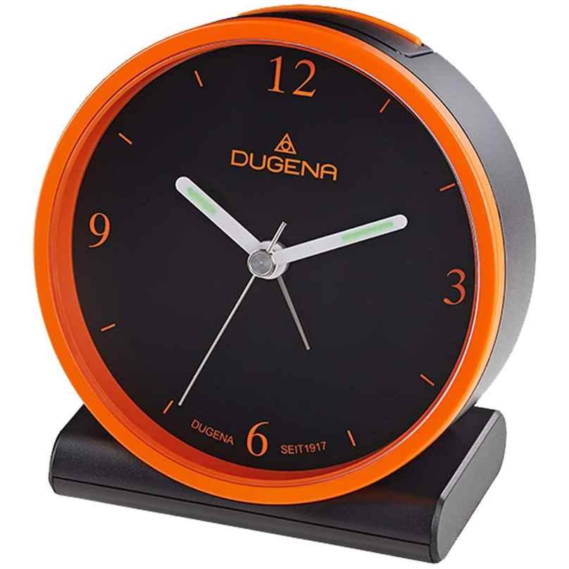 Dugena 4460945 Funkwecker Schwarz / Orange 4060753000685