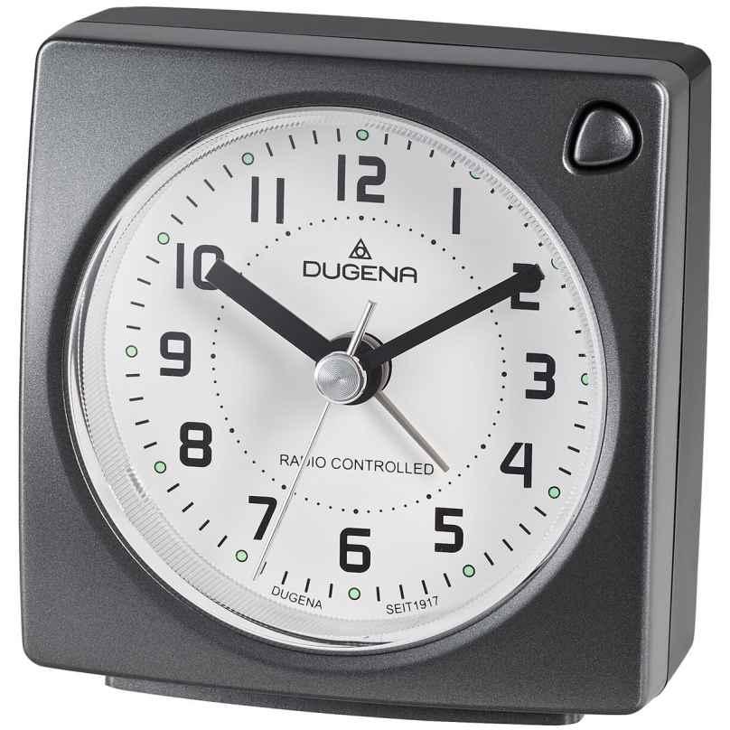 Dugena 4460942 Radio Controlled Alarm Clock Anthracite 4060753000654