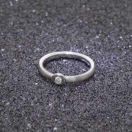trendor 88391 Silber Diamant-Ring für Damen