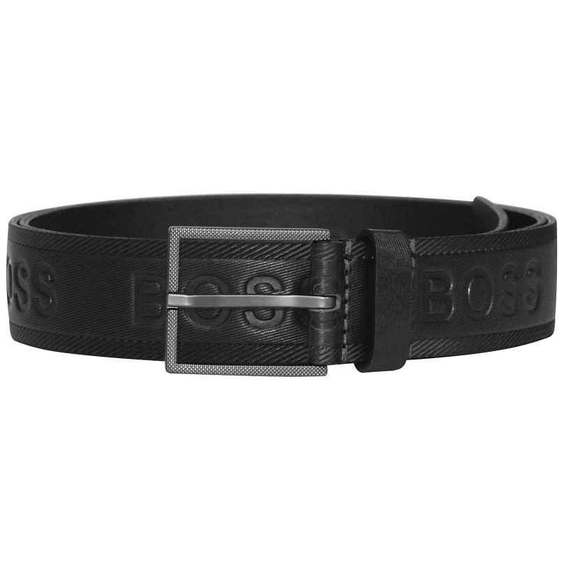 Boss 50430111-001 Men's Belt Tril-Logo Dark Black