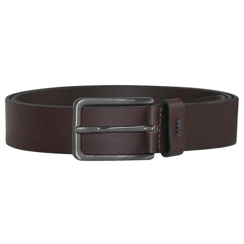 Boss 50441420-202 Men's Belt Calis-Logo Leather Brown