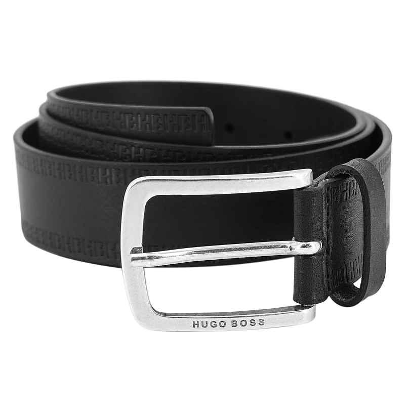Boss 50452434-001 Herrengürtel Jor Leder Schwarz