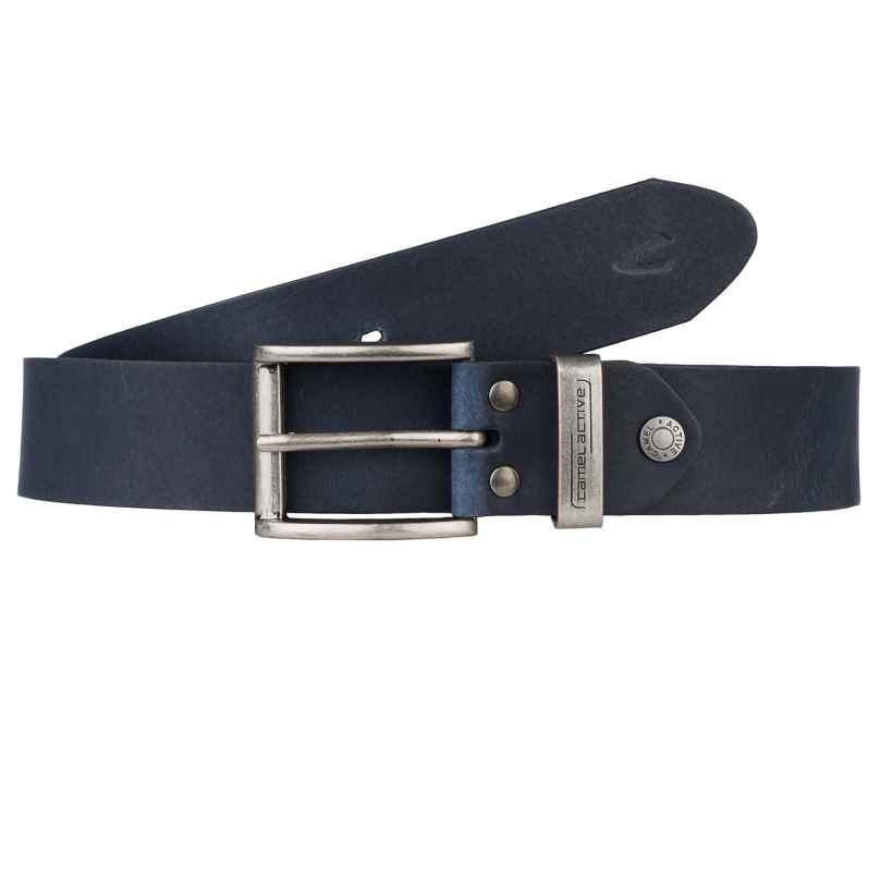 camel active 101-115-50 Men's Leather Belt Dark Blue 4251234411124