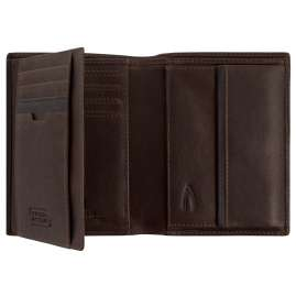 camel active 269-706-29 Leather Wallet Brown Portrait Format Osaka