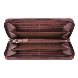 camel active 297-705-40 Women's Zip Wallet Sullana Burgundy with RFID Protection
