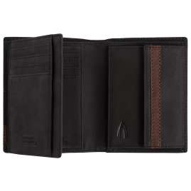camel active 27470560 Men's Wallet Taipei Black Leather