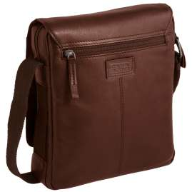camel active 290-603-22 Men's Shoulder Bag Laredo Flapbag Cognac Brown