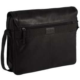 camel active 290-801-60 Men's Messenger Bag Laredo Black Leather