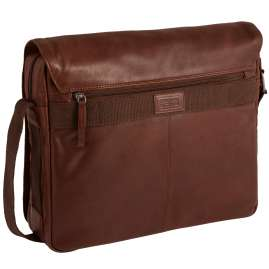 camel active 290-801-22 Men's Messenger Bag Laredo Cognac Brown Leather