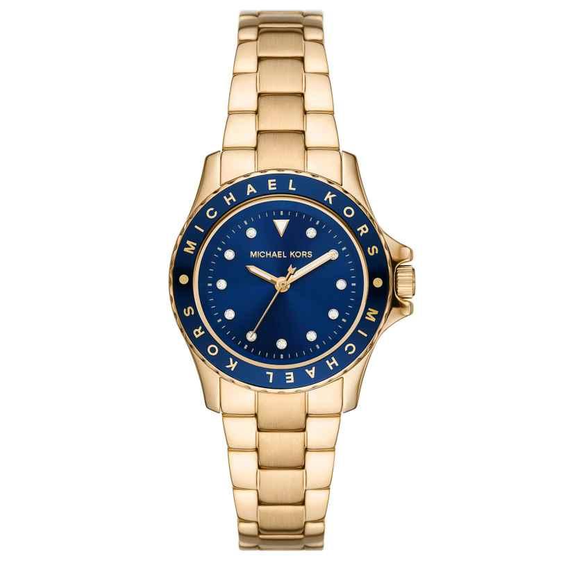 Michael Kors MK6954 Damen-Armbanduhr Kenly gold / blau 4064092053876