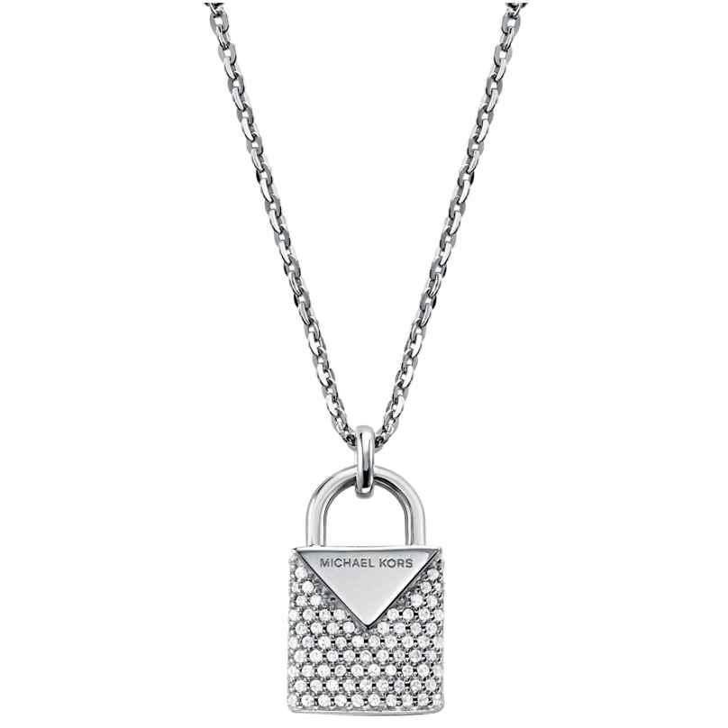 Michael Kors MKC1040AN040 Silber Damen-Halskette mit Anhänger Kors Color 4013496000269