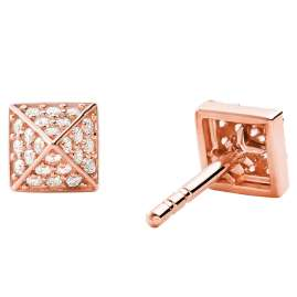 Michael Kors MKC1299AN791 Ladies' Stud Earrings Mercer Rose Gold Plated Silver