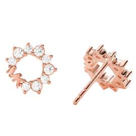 Michael Kors MKC1348AN791 Women's Stud Earrings Rose Gold Plated Silver