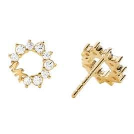 Michael Kors MKC1348AN710 Women's Stud Earrings Gold Plated Silver