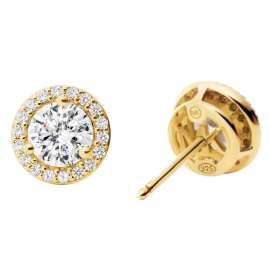 Michael Kors MKC1035AN710 Damen-Ohrringe Ohrstecker Silber vergoldet