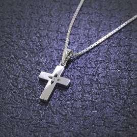 trendor 48849 Silber Kreuz Anhänger mit Kette