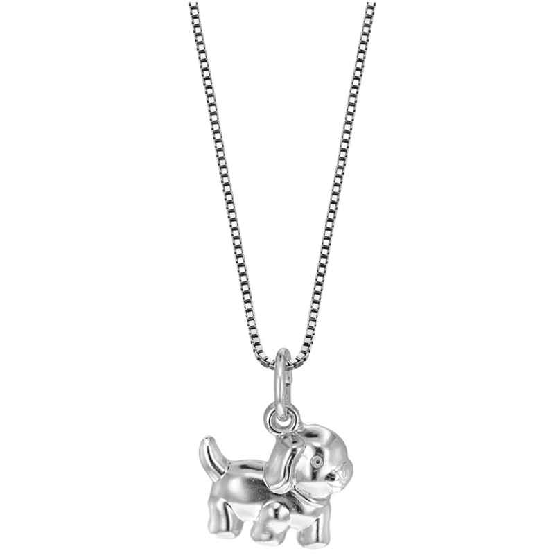 trendor 49198 Silber Mädchen-Halskette Hund 4260143749198