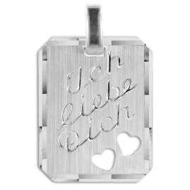 trendor 40157 Silver Pendant Ich liebe Dich