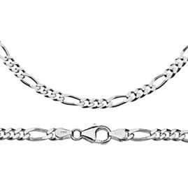 trendor 41437 Figaro-Armband für Herren 925 Sterlingsilber Breite 4,8 mm