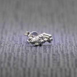 trendor 60804 Solo Stud Earring Racer Silver